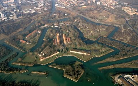 Forte Marghera visto dall'alto