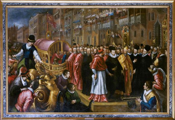 Palma il Giovane, Visita di Enrico III di Francia. Dresda, Gemäldegalerie.